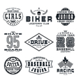 Set of sports emblems vector image vector image