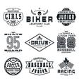 set sports emblems vector image vector image