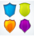shield icons protect guard defense badges glossy vector image
