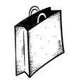 shopping bag doodle vector image vector image