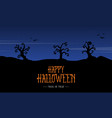silhouette scenery halloween design background vector image vector image