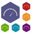 Speedometer icons set vector image vector image