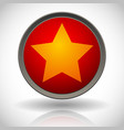 stylish star badge star button vector image