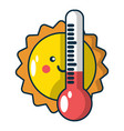 summer icon cartoon style vector image