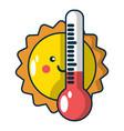 summer icon cartoon style vector image vector image