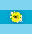 summer sale poster template hot season offer vector image