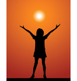 summer silhouette vector image vector image