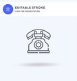 telephone icon filled flat sign solid vector image vector image