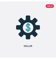 two color dollar icon from user interface concept vector image vector image