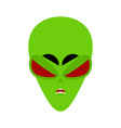 ufo angry emoji green alien face aggressive vector image