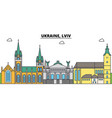 ukraine lviv outline city skyline linear vector image vector image