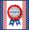 veterans day badge on abstract background vector image vector image