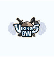 vikings sport logo emblem for gym vector image