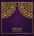 vintage background frame with gold ornaments vector image vector image