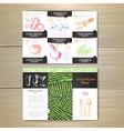 Vintage chalk drawing vegetarian food menu design vector image vector image