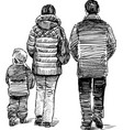 walking family vector image vector image