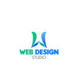 web design studio emblem vector image