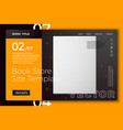 white book isolated on bright modern site vector image