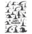 witch hats set isolated on white background vector image vector image