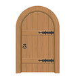 wooden door interior apartment closed door with vector image vector image