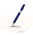 writing pen vector image vector image