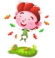Happy Kids With Candies vector image