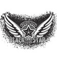 black star motorcycle club design for emblem or vector image