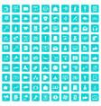 100 digital marketing icons set grunge blue vector image vector image