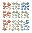 3d buildings set vector image vector image