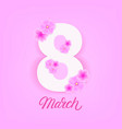 8 march greeting card poster banner template vector image