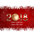 abstract beauty christmas and 2018 new year vector image vector image