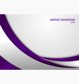 abstract template purple and gray curve on square vector image vector image
