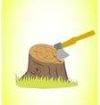 Axe in the stump vector image