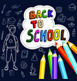Back to school poster with doodles drawn by hand