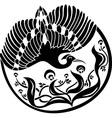 Bird stencil vector image