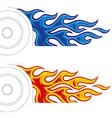 car fireball vector image vector image
