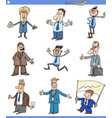cartoon set businessmen or men characters vector image vector image