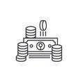 cash line icon concept cash linear vector image vector image