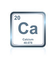 chemical element calcium from the periodic table vector image vector image
