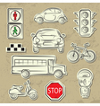 city traffic icons vector image vector image