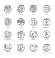 collection of design and development glyph vector image vector image
