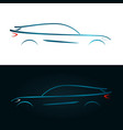 concept design blue car silhouette vector image