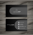 dark professional business card design vector image vector image