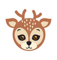 deer carnival mask spotted reindear with horns vector image vector image