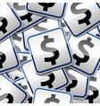 Dollar money sticker symbols vector image