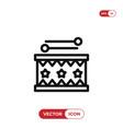 drum icon vector image vector image