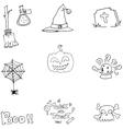 Element flat Halloween doodle vector image vector image