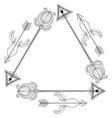 ethnic tribal frame arrows entangle design vector image