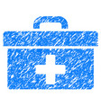 first aid toolbox grunge icon vector image vector image