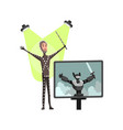 flat male character professional actor flat vector image